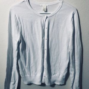 NWOT White H&M Button Up Sweater